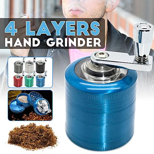4 Layers 40MM Herb Metal Grinder Herbal Alloy Crusher Smoke Hand Crank Muller UK