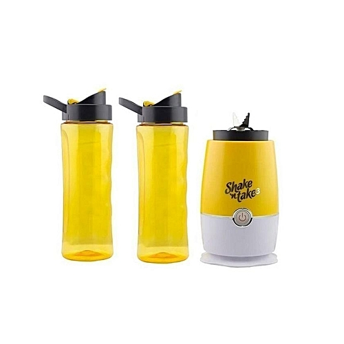 Smoothie Maker With 2 Bottles -Yellow