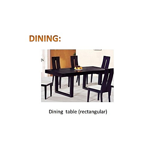 PAWA FURNITURE SUPER ULTRA WOODEN DINING 6 CHAIRS (BLACK). ORDER AND GET A FREE OTTOMAN. FREE DELIVERY TO ONLY LAGOS CUSTOMERS.
