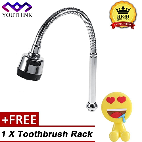 [Buy 1 Get 1 Free Toothbrush Rack] 304 Stainless Steel Kitchen Sink Swivel Spout Faucet Pipe Fittings Single Handle Connection