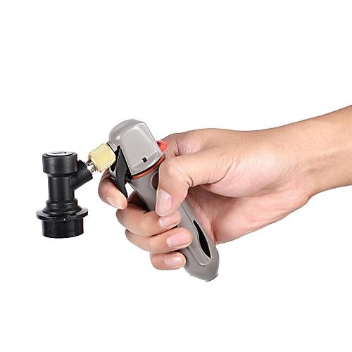 【Big Sale】Keg Charger CO2 Injector Draft Beer Dispenser + Ball Lock For Homebrew Soda Valve Grey