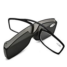 5b003c2b0b571 KCASA New Nose Clip Reading Glasses TR90 Mini Portable Presbyopic Glasses  With Case