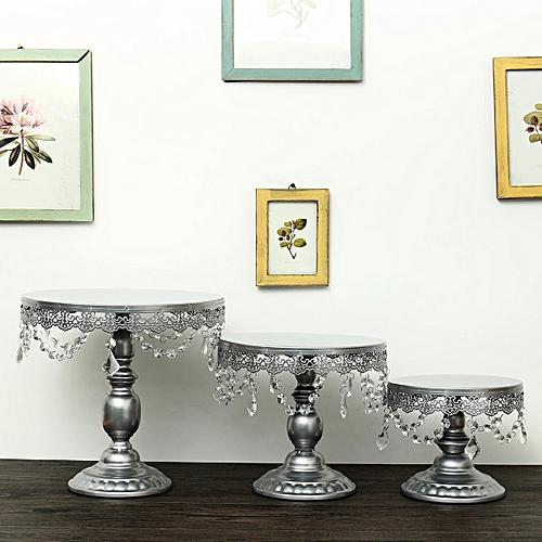 3Pcs /Set Crystal Round Stand Holder Party Wedding Decor