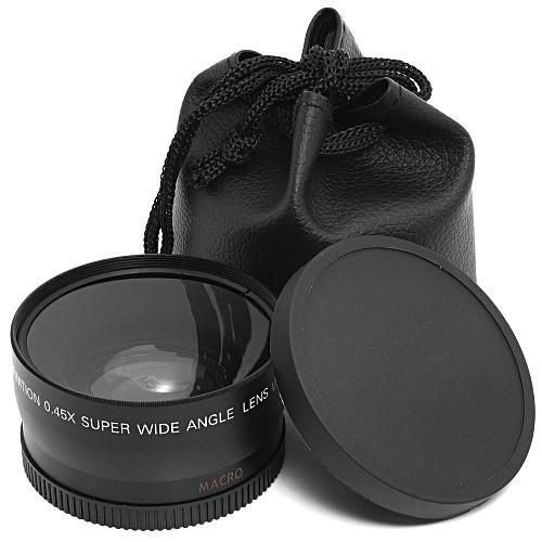 58MM 0.45x Wide Angle Lens + Macro Lens For Cannon 5D/60D/ 70D/350D / 400D Etc.18-55MM Lens