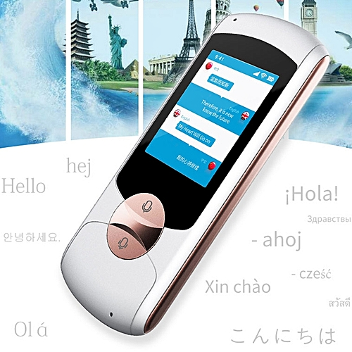 Portable 41 Languages Smart Voice Translator 2.4G WiFi Real Time Language Translator Multilingual Interpreter Russian Traductor White