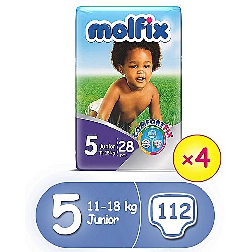 ComfortFix Diapers, Size 5 (X 4) (Total 112 Count)