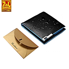 3db15367bb56 Waterproof Bifold Colourful Leather Wallet Plus ATM  amp  Card Holder -  Black
