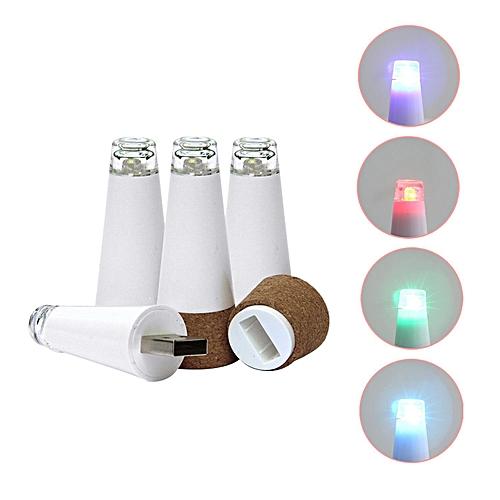 Wine Bottle Cork Shaped LED Lights USB Powered Rechargeable LED Bottle Lights,4pcs Colourful