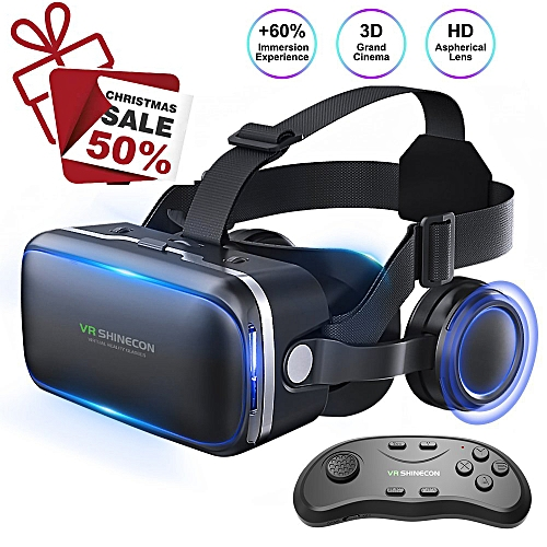7b47fe749441 Generic VR Headset 3D Glasses - Virtual Reality Headset For VR Games   3D  Movies Pack With Remote Controller