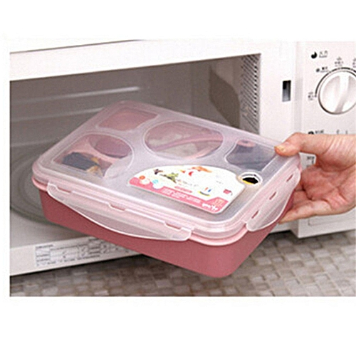 Bento Lunch Box Leakproof Microwave BPA Free Lunch Box Pink