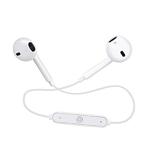 Sport Bluetooth Earphones Wireless Bluetooth V 4.0 Headphones Stereo Bass Headset With Micphone For Iphone Android White