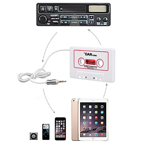 Universal 3.5mm Audio Cassette Adapter For Car Phone MP3