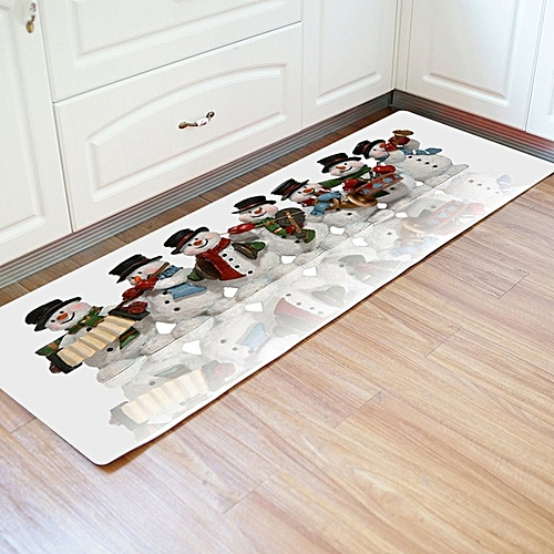 Christmas Home Rug Long Type Bathroom Carpet Floor Mat Room Xmas White&red&blue&green