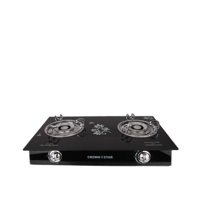 Crown Star Double Burner Glass Base Table Gas Cooker Buy