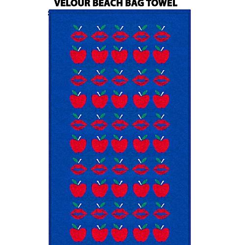 Convertible 3 In 1 Velour Beach Towel, Bag &poncho