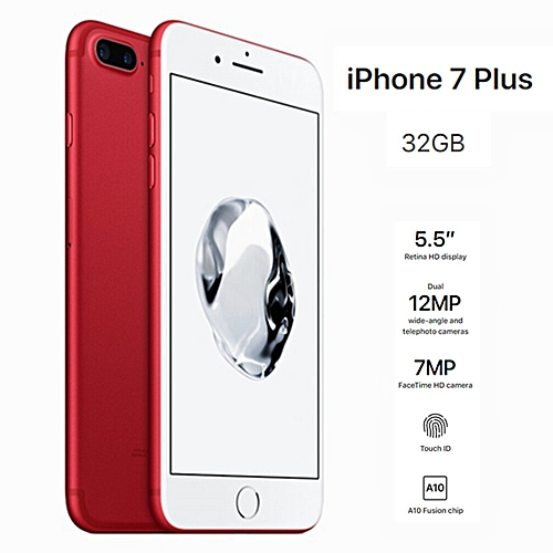 IPhone 7 Plus 32GB - Red 5.5 Inch Screen (Refurbished)