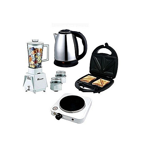 Blender + Electric Cooker + Electric Kettle + Toaster
