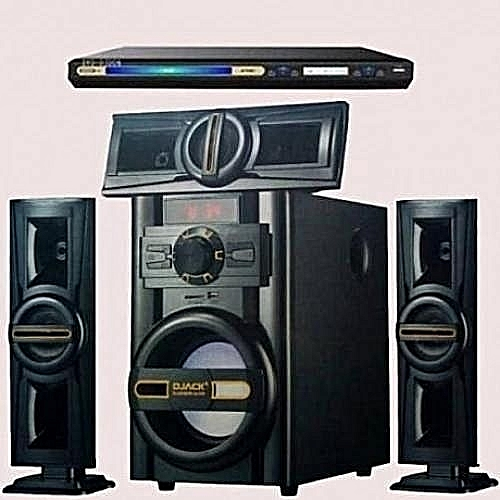 Heavy Duty 3.1ch Powerful Bluetooth Home Theater Dj-503+DVD Player Attached
