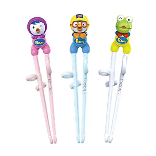 New Petty Edison Stainless Steel Training Chopsticks For Children Pororo's Best Friend(1 Step) By Pororo(Green)