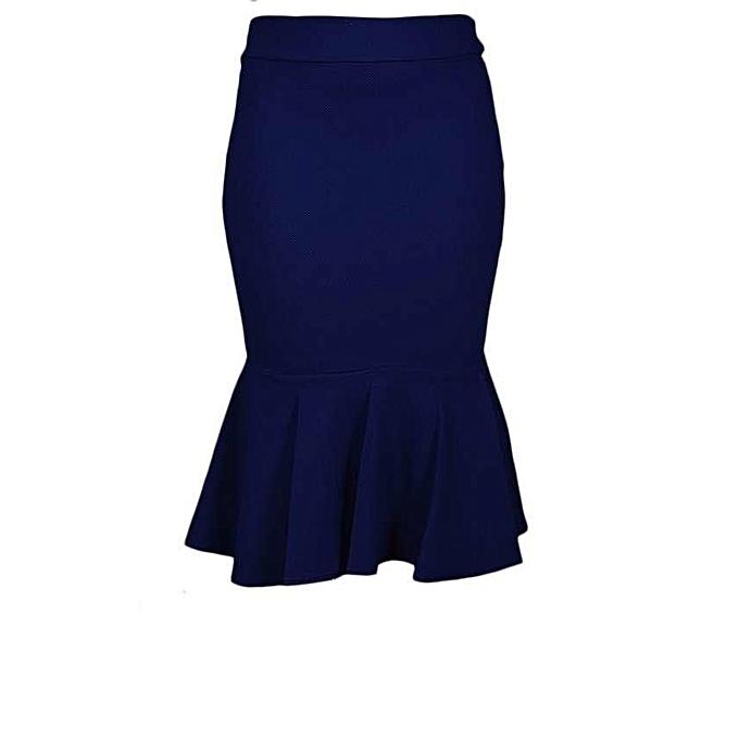 25dce36d3d BrandFit High Waist Peplum Skirt - Navy Blue | Jumia NG