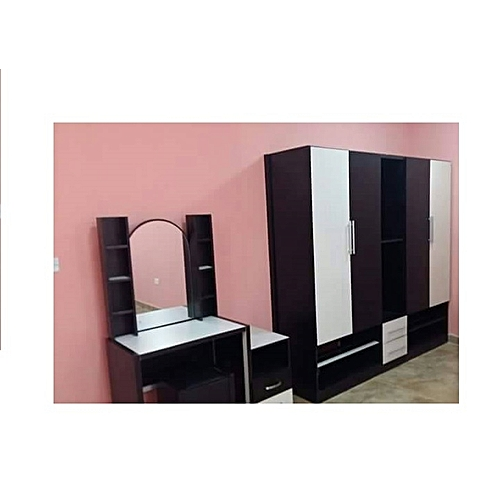 Mahathan Home Set Wardrobe With Mirror Console