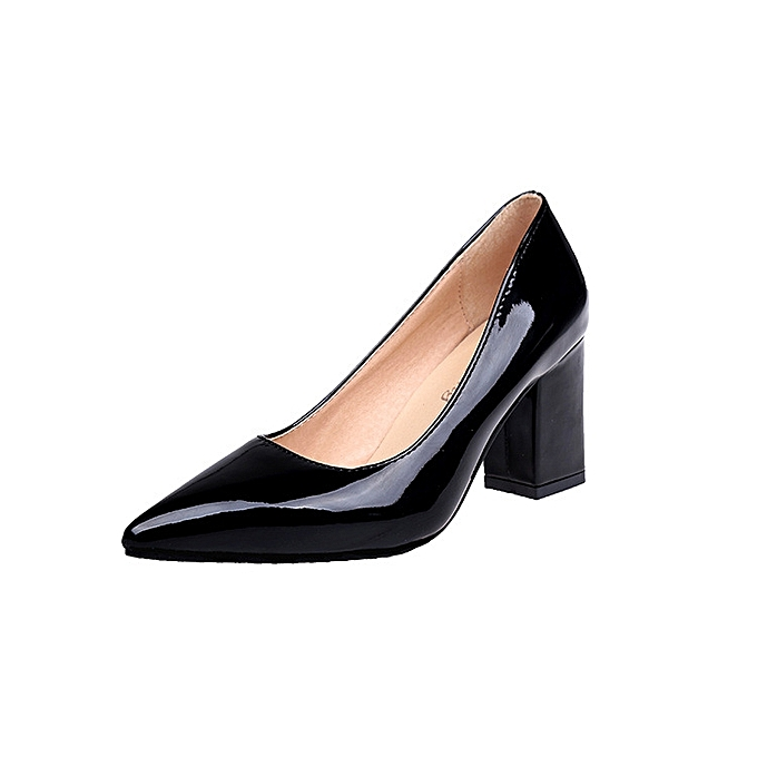a28e396d13d 2017 Pointed Toe Thick Heel Pumps Brand Designer Party Womens Shoes Heels  Fashion Sexy High Heels