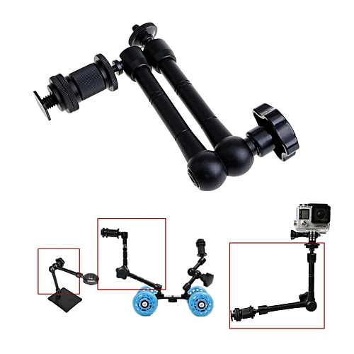 """11"""" Articulating Magic Friction Arm For Hot Shoe Camera LCD Monitor LED Light"""