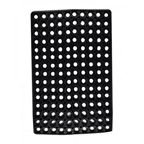 Door Mat - 40:60cm Hollow Pure Rubber Mat-RUBBER