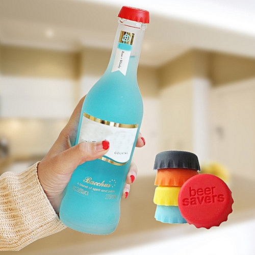 6pcs/lot New Kitchen Multicolor Silicone Button Beer Wine Cork Stopper Plug Bottle Cap Cover Perfect