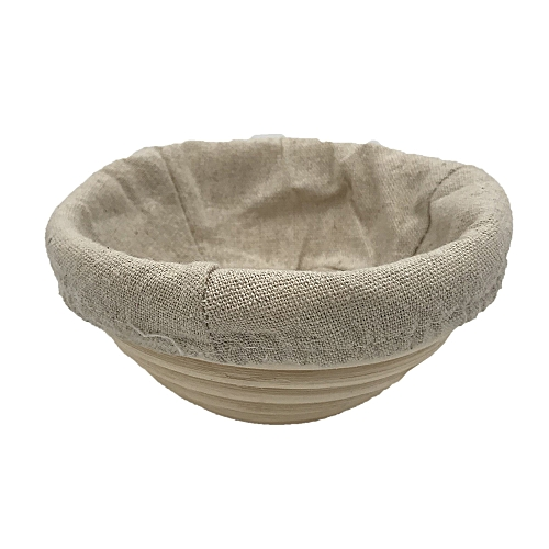 5 Inch Round Banneton Basket Removable Lining Rattan Basket