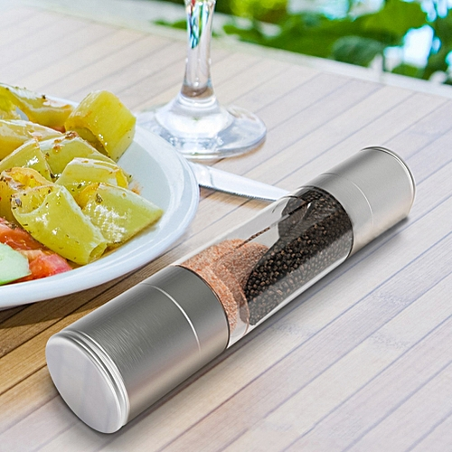 2 In 1 Stainless Double-ended Manual Salt & Pepper Grinder