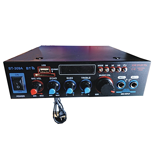 Bluetooth USB/SD Card Radio FM Stereo Audio Power Amplifier