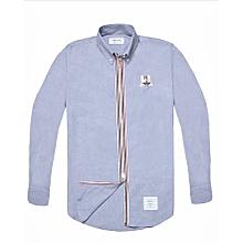 7f71e7ad0e9 Thom Browne Men s Fashion Zip-up Long Sleeve Shirt Blue. ₦ 18