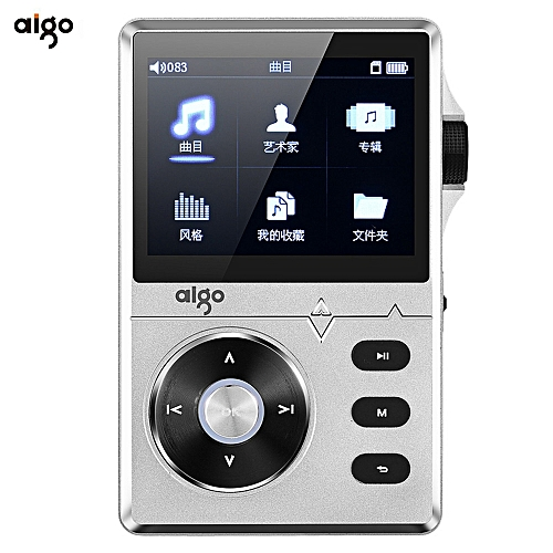 Aigo Aigo 108 Zinc Alloy HiFi High Quality Sound Lossless Music 2.2 Inches 8GB MP3 Player With Color Screen_SILVER