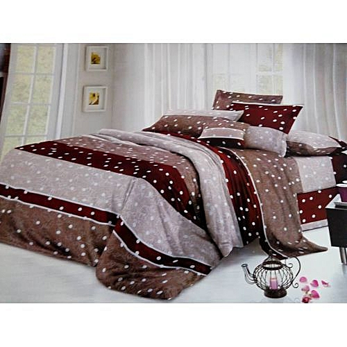 Brown Polka Dot Duvet Cover,bed Sheet And Pillow Cases