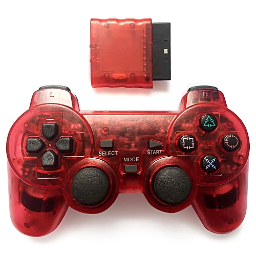 Wireless Controller Joypad For PS2 Game Console RED