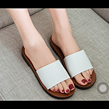 1d7e0296f840 Ladies Flat Slippers -White