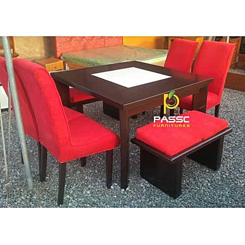 Red Passc Dining Table. DELIVERY ONLY TO LAGOS RESIDENCE