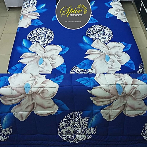 Duvet + Bedsheet + Four Pillow Cases + Duvet Bag And FREE GIFT