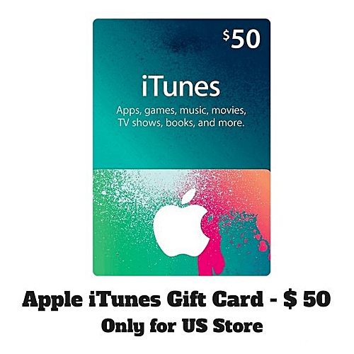 photograph relating to Itunes Printable Gift Card titled $50 Apple ITunes Reward Playing cards - United states of america