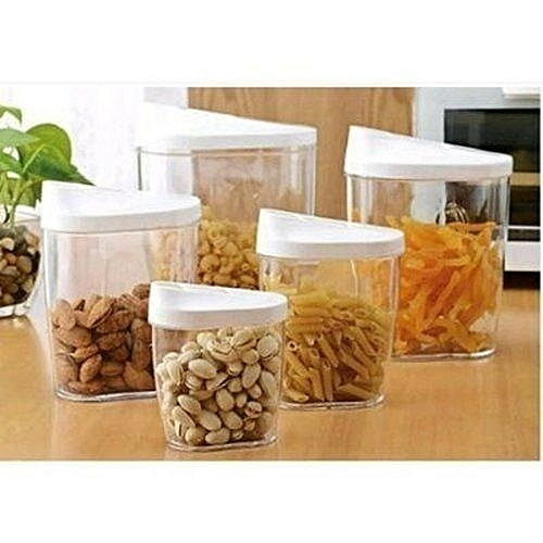 Food Storage Jar 10 Pieces Container Set With Easy Pour Lids