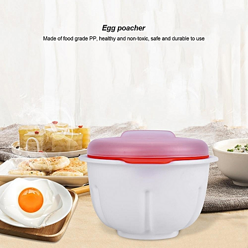 Plastic Microwave Egg Poacher Boiled Poached Eggs Cooker Bowl Kitchen Cooking Tool