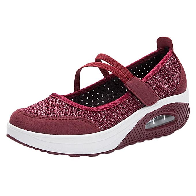 Siwenfe Shop Mesh Shoes Thick Bottom Platform Shoes Air Cushion Women s  Shoes Rocking Shoes 4d3ac11f6