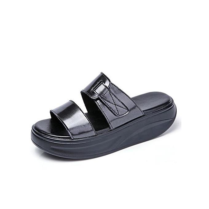 d5724c1bdb25ba 2018 Summer Women Slippers Female Open Toe Flip Flops Ladies Beach Slippers  Wedges Sandals Women Flat