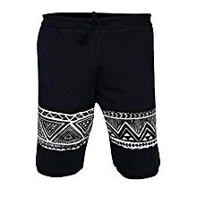 ea2e2c40b1 Mens Print T-Shirt quot The Classic Aztecs Design Print On Short quot -Navy