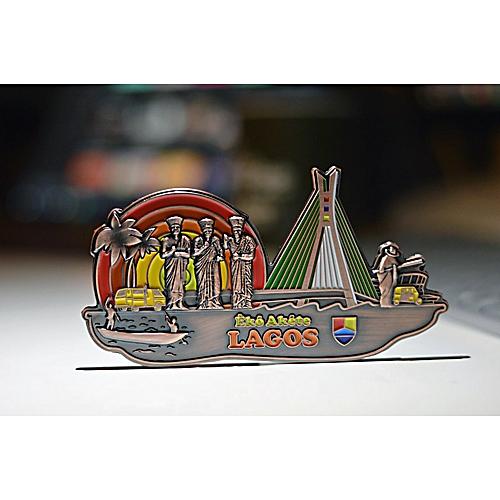 Lagos Fridge Magnet - Antique Bronze Sunshine Edition
