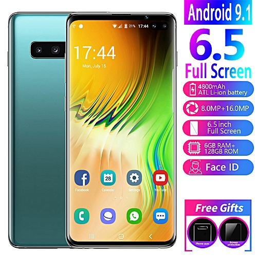 S10 Plus 6 5 Inch 6GB+128GB Smartphone Android 9 1 Face Unlock HD Curved  Full Screen