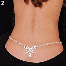 9bb982877666 Bodhi Women Sexy Rhinestone Butterfly Dance Body Belly Waist Chain Fashion  Jewelry
