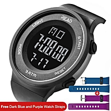 Trend Mark Forsining Sport Men Multi-function Led Digital Watch Alarm Clock Week And Date Display Waterproof Fashion Cool Male Wristwatch With Traditional Methods Mechanical Watches