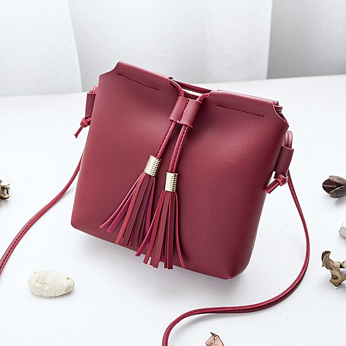 417ed0972125 VORSTEK Female Bag Double Tassel Small Bag Fashionable Single Shoulder Bag  Slant Cross Bun